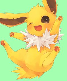 Stupid Eevee, pretending to be lovely, and best out of Eeveelutions . . . yes, yes, we all know what my favorite Eeveelution is . . . JOLTEON!!!!