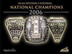 Coach Jerry Moore's 2006 Championship Ring Picture at Appalachian State Mountaineer Photos