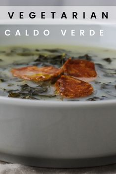 "Today I'm showing you how to make Caldo Verde! I made the video for this recipe in collaboration with The Vintage Vegetarian! He made an American ""Meat and Potatoes"" Vegetarian Soup and I made a Traditional Portuguese Soup. Caldo Verde is one of my favorite Traditional Portuguese Soups! It's usually not vegetarian, but I came up with a vegetarian alternative that's equally delicious! #caldoverde #vegetariansoup #ovolactovegetarian"