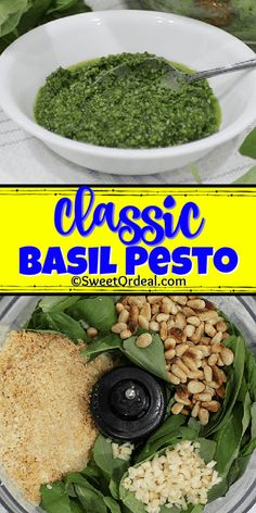 Basil Pesto Pasta, Basil Pesto Recipes, Dill Recipes, Best Pesto Recipe, Vegetarian Recipes, Healthy Recipes, Homemade Pesto, Canning Recipes, Vegetarian Food