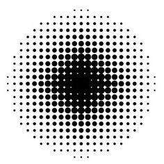 Круговой векторный узор Halftone