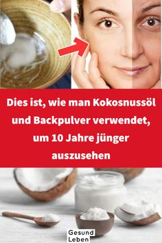 This is how to use coconut oil and baking soda at 10 .- Dies ist wie man Kokosnussöl und Backpulver verwendet um 10 Jahre jünger auszusehen It is a combination of coconut oil and baking soda and both of them have an amazing effect on your skin. Beauty Care, Diy Beauty, Beauty Hacks, Beauty Skin, Homemade Beauty, Face Beauty, Beauty Ideas, Beauty Box, Beauty Tips For Face