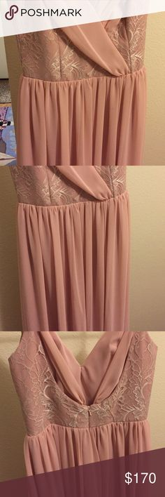 Size 6 Hayley Paige dress (JLM couture). Soft rose colored bridesmaid dress. It was worn once and is in perfect condition. The dress is a size 6, but fits more like a 4 in street clothes. Would be great for another wedding or even for prom! Dresses Wedding