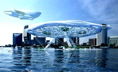 The Floating Aerohotel: A Modern Aquatecture Marvel aerohotel, alexander asadov architectural studio, asadov aerohotel, floating hotel, futuristic hotel design, eco resort, hanging gardens – Inhabitat - Sustainable Design Innovation, Eco Architecture, Green Building