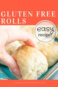 Free Rolls Soft, fluffy and EASY gluten free rolls! Ready in 1 hour and everyone will love them.Soft, fluffy and EASY gluten free rolls! Ready in 1 hour and everyone will love them. Gluten Free Cooking, Gluten Free Desserts, Dairy Free Recipes, Wheat Free Recipes, Gluten Free Dinners, Gluten Free Cakes, Cooking Recipes, Gluten Free Appetizers, Gf Recipes