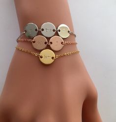 BLACK FRI-WEEK - ENJOY UP TO 30% OFF STORE WIDE BLACK FRI-WEEK SALE - Enjoy big discounts ALL WEEK! Personalized Initial Bracelet / Mom Grandma Sister Gift / Kid Baby Initial Bracelet / Baby Shower Gift / Gold Rose Silver Bracelet «« DESCRIPTION »» A personalized bracelet is a marvelous way to show someone you care or to treat yourself, because, heck you deserve it! Custom jewelry holds a special sentimentality as its completely personal and allows you to wear a beautiful piece to symbo...