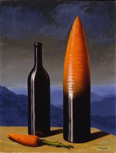 René Magritte (1898 - 1967) - L'explication, 1952 Gouache, watercolor and pencil on paper (executed in 1952) Galerie Odermatt-Vedovi, Paris, France