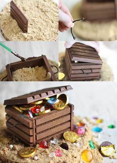 DIY Candy-filled treasure chest | pirate party: