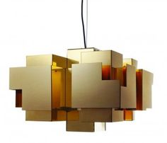 Skyline pendant light in brass by Folkform for Örsjö