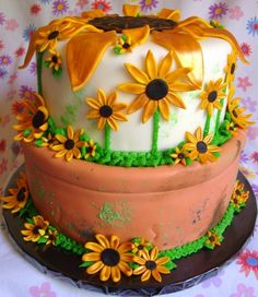 Black-eyed Susan Cake (Preakness) - Cake Central