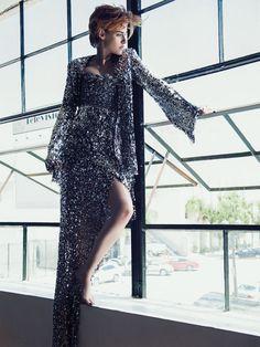 The Rebel: Kristen Stewart in CHANEL Haute Couture Fall 2014 by Sebastian Kim for Vanity Fair France September 2014