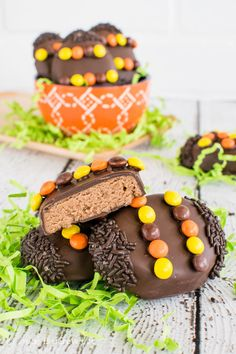 Reese's Cream Eggs - these fun peanut butter eggs are dipped in chocolate . Great Easter treat.