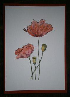 Stempel van Penny Black.  Ingekleurd met Color Soft potloden van Caran d'Ache en dan met een vochtig penseel over gegaan.