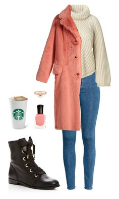 Street style by dalma-m on Polyvore featuring polyvore fashion style Burberry H&M Kate Spade Marie Mas Deborah Lippmann clothing