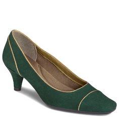 Women's Aerosoles Sweet Cheery - Dark Green Suede