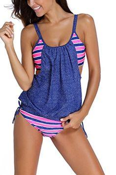 Dokotoo Womens Stripes Lined Up Double Up Tankini Top Swi... http://www.amazon.com/dp/B01FJS9ONQ/ref=cm_sw_r_pi_dp_4Zppxb12N7DPA
