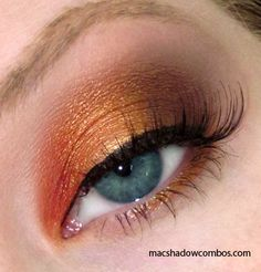 MAC Eyeshadows: Orange, Amber Lights, Mulch, & Bisque - One of my all time favorite combos!