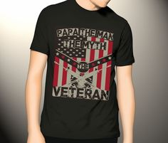 Papa The Man, The Myth, The Veteran T-shirt