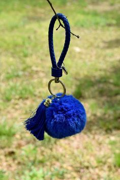 Blue Rabbit Fur Ball Keychain, Handbag, Purse, Gift and more by ZEnella on Etsy https://www.etsy.com/listing/275719354/blue-rabbit-fur-ball-keychain-handbag