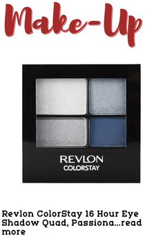 Color:PassionateThe Revlon ColorStay 16 Hour Eye Shadow Quad is an expertly colorcoordinated palette for your most gorgeous eyes yet. Rich, velvety shadows blend smoothly for a beautiful, luxurious color that wears for up to 16 hours. Ophthalmologist tested and nonirritating. These shadows won't crease, fade or smudge. Available in 12 palettes. … (This is an affiliate link)