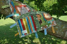 Jungle Animal Tag Rag Blanket by LightinBugKreations on Etsy, $15.00