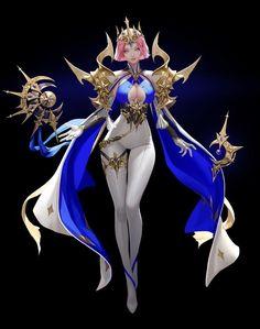 ArtStation - Goddess, TaeKwon Kim / A-rang Fantasy Character Design, Character Concept, Character Inspiration, Character Art, Concept Art, Fantasy Characters, Female Characters, Anime Characters, Fantasy Women