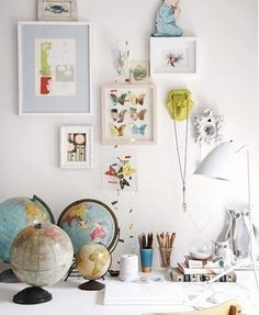 Whimsical World of Laura Bird: Its all in the details...  Tags: butterflies, globes, decor, eclectic, vintage
