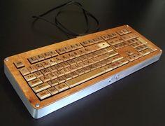 scrabble letters keyboard!