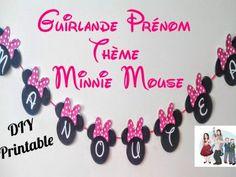 DIY Printable - guirlande prénom minnie mouse