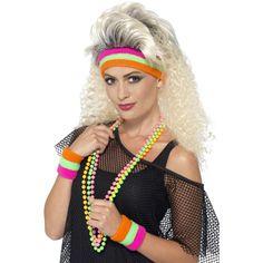 80's Sweatbands, Neon with 1 Headband & 2 Wristbands 41561 £5.50