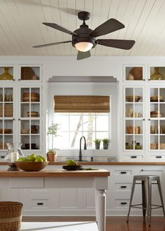 Kitchen Ceiling Fan Ideas Owner Follow Have A Vintage Décor The 52 By Monte Carlo Is