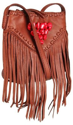 Lucky Brand bag with fringe & pops of red!