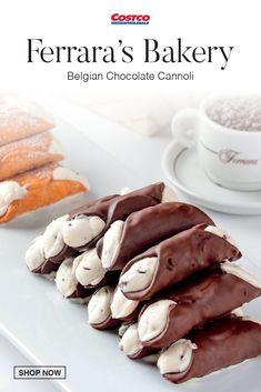 Fun Baking Recipes, Sweet Recipes, Cookie Recipes, Dessert Recipes, Cute Desserts, Delicious Desserts, Yummy Food, Cannoli Recipe, Belgian Chocolate