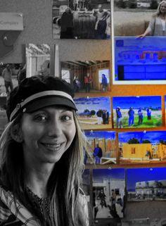 Kiara Ninos at dedication of the Art Therapy building...