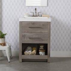 #DiscountLaminateFlooring Vanity Set, Shower Floor, Tile Floor, White Washed Oak, Single Bathroom Vanity, Master Bathroom, Single Vanities, Bathroom Mirrors, Basement Bathroom