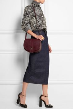 Image result for vanessa seward leather skirt