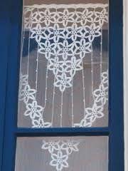 """Résultat de recherche d'images pour """"rideaux au crochet fait main"""""""