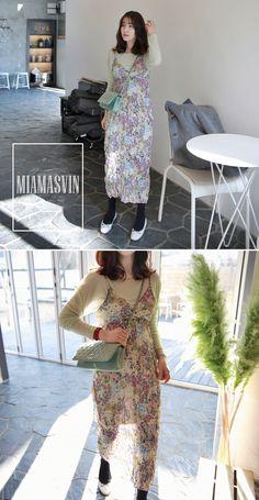 Floral Crinkled Sleeveless Dress ------ $50.10