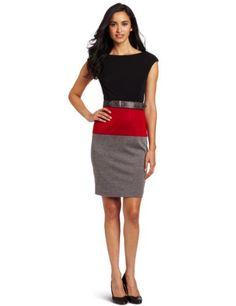 Fashion Maggy London Women's Colorblock Ponte Dress - http://clothing.wadulifashions.com/fashion-maggy-london-womens-colorblock-ponte-dress/