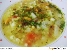 Houbová polévka s kroupama Cheeseburger Chowder, Food, Essen, Meals, Yemek, Eten