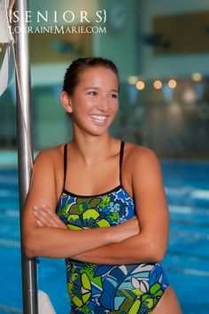 Senior Pictures Ideas For Girls   Seattle senior pictures of a girl at the pool