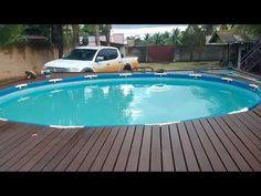 Piscina Intex, Above Ground Pool, In Ground Pools, Intex Pool, Pool Decks, Backyard, Decking, Outdoor Decor, Youtube