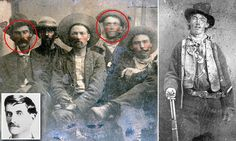 Does this picture show Billy the Kid with the man who killed him?
