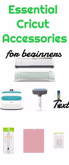 Essential Cricut Accessories for Beginners Cricut Accessories / Cricut Maker / Cricut Explore Air / Cricut Crafting / Cricut Air 2, Cricut Help, Cricut Vinyl, Circuit Crafts, Circuit Projects, Diy Projects, Project Ideas, Sewing Projects, Circuit Machine