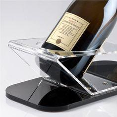 Italian Wine Shop - Saper bere bene - Portabottiglia in Plexiglass - Linea PLEXI Mod. CHAMP-01 | DiVino marketing®