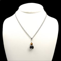 Tiger eye jewelry silver chain necklace lava by DSNatureetCreation https://www.etsy.com/listing/500334654/tiger-eye-jewelry-silver-chain-necklace