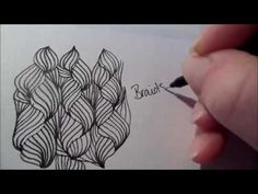 How to draw tanglepattern Braids - YouTube