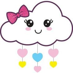 Moldes Cute Easy Drawings, Art Drawings For Kids, Kawaii Drawings, Drawing For Kids, Foam Crafts, Diy And Crafts, Crafts For Kids, Paper Crafts, Cloud Party
