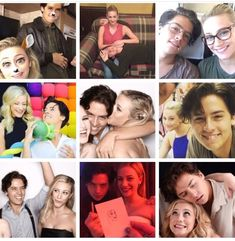 So cute together!!! #bughead #liliandcole #sprousehart Lili Reinhart and Cole Sprouse