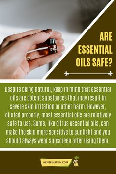 Thinking of using essential oils for acne, but you don't know which oil to pick or if they are safe to use? Find out what science has to say! Are Essential Oils Safe, Citrus Essential Oil, Skin Irritation, Home Remedies For Acne, How To Apply, How To Get, Keep In Mind, New Tricks, Clear Skin